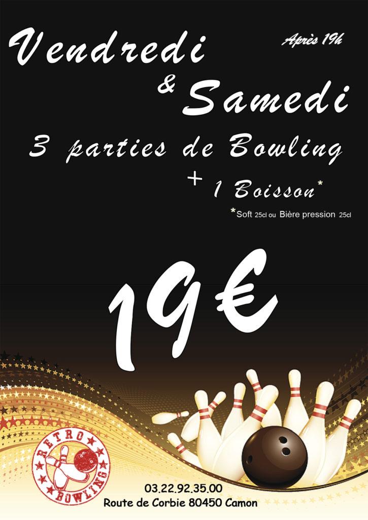 formule bowling à Amiens